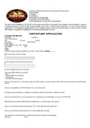 survivor application form