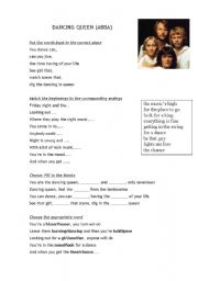 English Worksheets: Dancing Queen