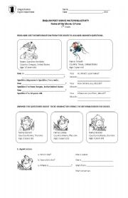 English Worksheets: G-Force Post Movie Watching Activity