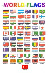 World Flags (for class board)