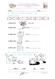 English Worksheet: test 1st grade