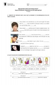 English Worksheet: Percy Jackson and the Olympians for 8th Graders