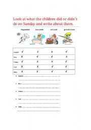 English Worksheets: past actions