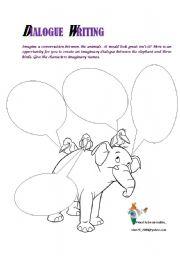 Worksheet Writing Dialogue Worksheet english teaching worksheets dialogues dialogue writing