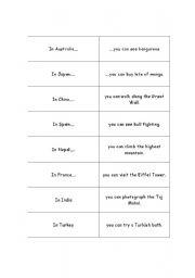 English Worksheets: Sentence Halves