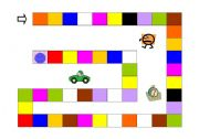 English Worksheets: Board Game - colours