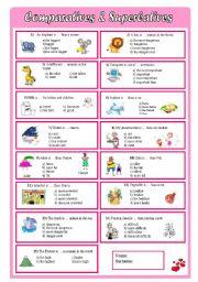 comparatives & superlatives - multiple choice test