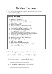 English Worksheet: Polite Questions