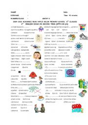English Worksheet: STRENGTHS&WEAKNESSES-IN CASE-PREFIXES PART 4(SECOND  EXAM OF 8TH GRADES