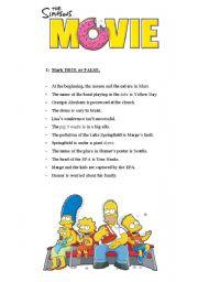 The Simpsons Movie - Worksheet - Page 1