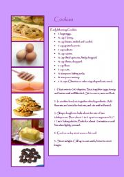 English Worksheet: Recipe: Cookies