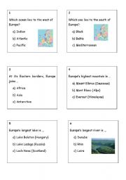 EUROPE´S DAY RUNNING QUIZ (17 pages)