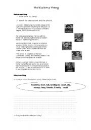 English Worksheet: The Big Bang Theory - Before  and after Episode 1 - Season 1