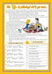 English Worksheets: THE SUN IS SHINING! LET�S GO OUT...