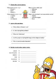 The Simpsons Movie - Worksheet - Page 2