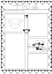 English Worksheets: Pucca Template
