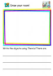 English Worksheets: Draw your room!