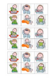 English Worksheets: daily routine bingo