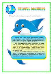 English Worksheet: FUN READING ABOUT LOVELY ANIMAL