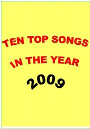 English Worksheet: Ten Top Songs in 2009