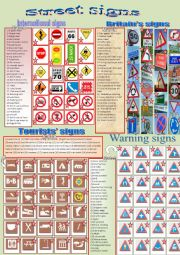 English Worksheets: Street Signs