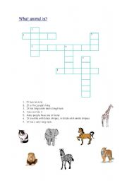 English Worksheets: What animal is?