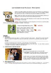 English Worksheets: Photo Captions
