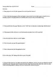 English Worksheets: Taming of the Shrew: Questions for each Act