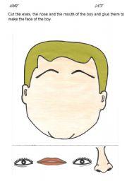 English Worksheets: Making a face