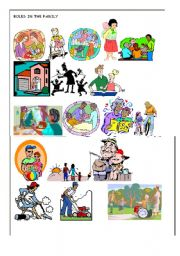 Worksheets Family Roles Worksheet english worksheet roles in the family