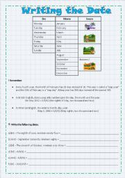English Worksheets: Writing the Date