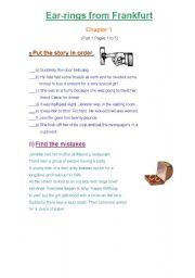 English Worksheets: Ear-rings from Frankfurt