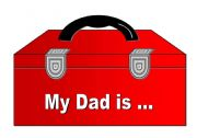 Father´s Day Special (15 Page Document with Fill-In the Blanks Activity, Mobile, Letter Writing Activity, Door Hanger and List of Positive Adjectives)