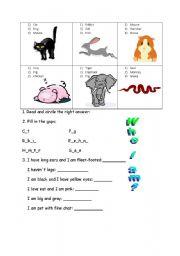 English Worksheets: Who I am?