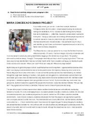 English Worksheet: MARIA CONCEICAO DAKHA PROJECT