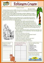 English Worksheet: Robinson Crusoe from Devitsa