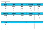 English Worksheet: 125 TABOO� Cards - vocabulary  level A1 - full editable - PART I