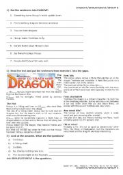 PRESENT SIMPLE PASSIVE: How to Train Your Dragon GROUPWORK/PAIWORK