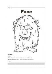 English Worksheets: Face