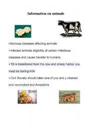 English Worksheets: live with animals