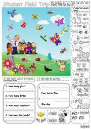 English Worksheets: How many...?
