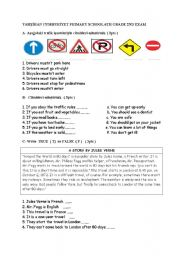 English Worksheet: 6th grade 2nd term 2nd exam for myenglish