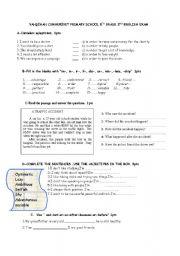 English Worksheet: 8th grade 2nd exam for myenglish