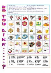 English Worksheet: Do you like...?