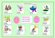 English Worksheets: How are you? (For young learner)