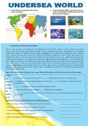 English Worksheets: UNDERSEA WORLD