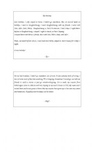 English Worksheets: recount text