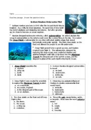 English Worksheets: G. Hawkes-Reading Comprehension