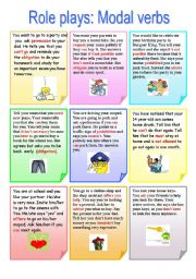 English Worksheet: Role play: Modal Verbs