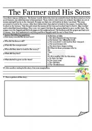 story The old man and his sons - ESL worksheet by naryana
